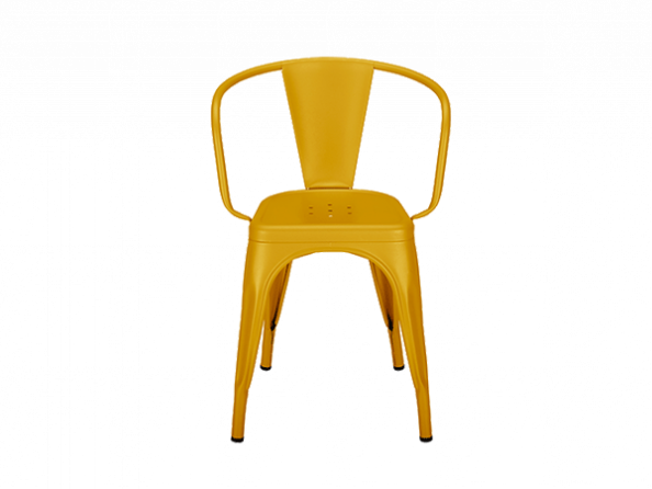 Tolix® A56+ metal armchair - Seat height 48 cm