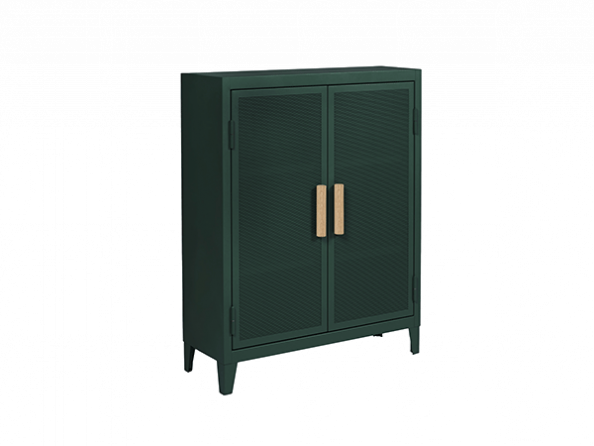 Tolix® low storage cabinet with 2 doors. Made in France.